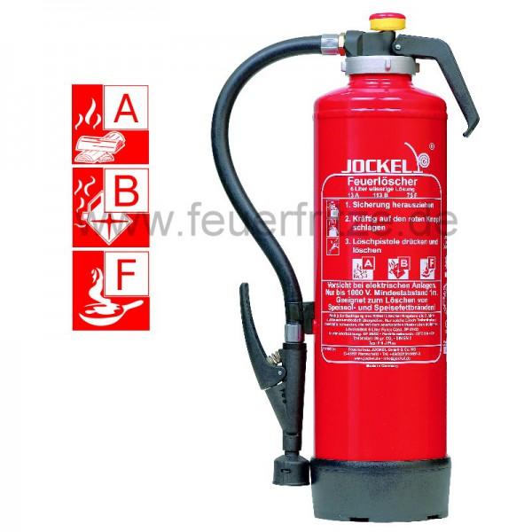 Feuerlöscher Jockel F 6 J Plus 13 , Klasse A B und Fettbrände