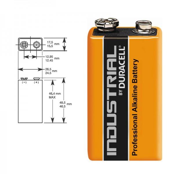 9V-Blockbatterie DURACELL INDUSTRIAL 6LR61