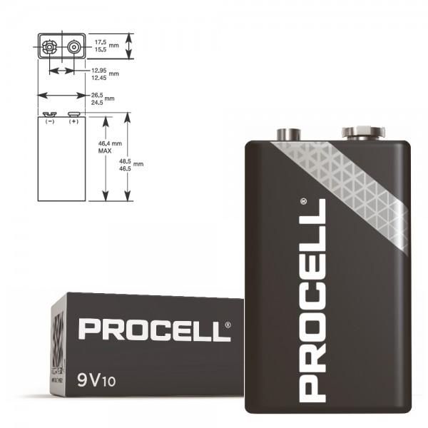 50 Stück 9V-Blockbatterie DURACELL Procell 6LR61