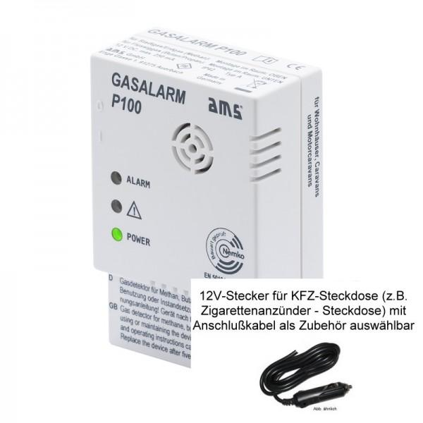 AMS 12V GASALARM P100 GW-09210.00 mit 12V Stecker