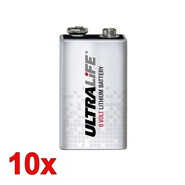 10 Stück Ultralife 9V Lithium Batterie U9VL-J-P