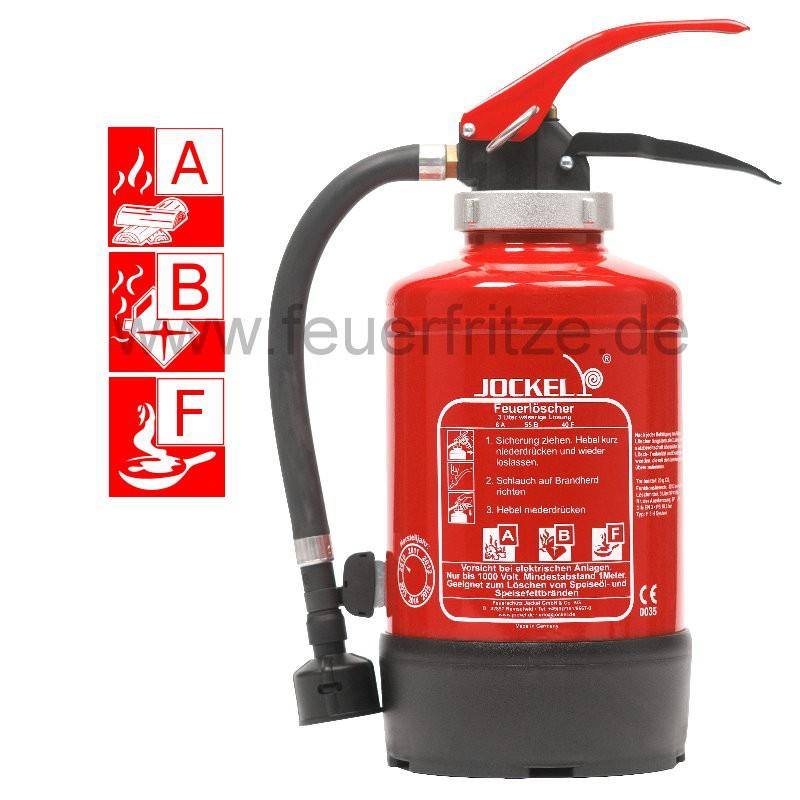 Feuerlöscher Jockel F3H System 1.0 FR Aufladefeuerlöscher, Brandklasse A B un... 3201100