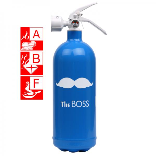 Jockel Designfeuerlöscher the Boss Brandklasse A B und F Artikel 270100BSBW
