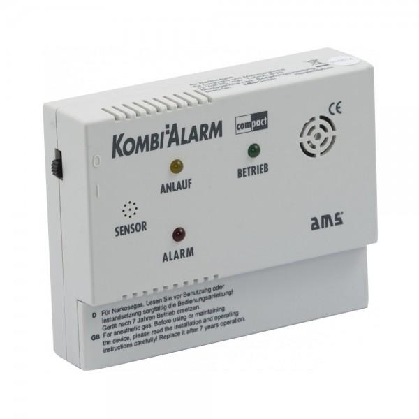 AMS KOMBIALARM compact Kombi-Gaswarner für Wohnwagen, Wohnmobil und LKW