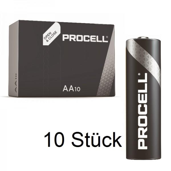 10 Stück DURACELL Procell LR6 Mignon AA MN 1500 Alkaline Batterie