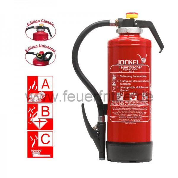 Jockel 6 kg ABC Pulver Auflade-Feuerlöscher P 6 JK 43 Plus