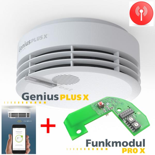 Hekatron Genius PLUS X mit Funkmodul Pro X
