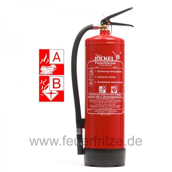 Jockel 6 Liter S 6 LJ BIO 43 Super Schaum Feuerlöscher ohne Manometer