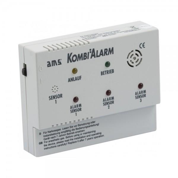 AMS KOMBIALARM erweiterbarer 12V Kombi-Gaswarner für Wohnwagen, Wohnmobil und LKW