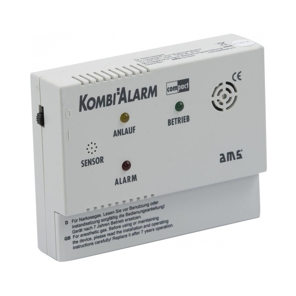 AMS KOMBIALARM compact 10V Kombi-Gaswarner für Wohnwagen, Wohnmobil und LKW