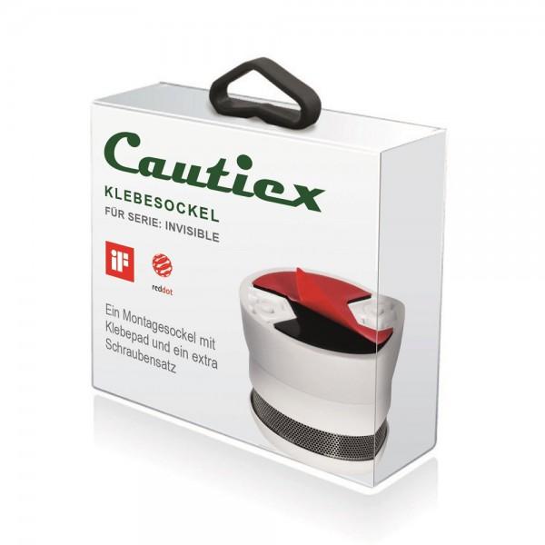 Cautiex Klebesockel für Rauch- und Hitzemelder der Serie Cautiex INVISIBLE