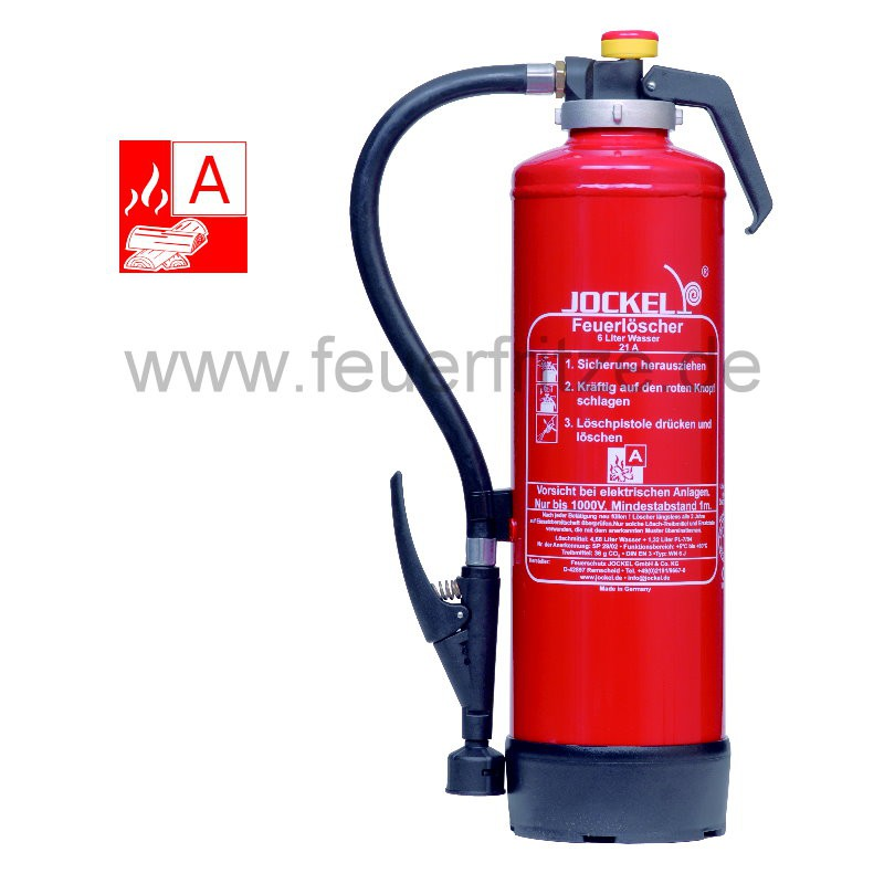 Jockel WF 6 J 21 6 Liter Wasser-Auflade-Feuerlöscher 6523100.1