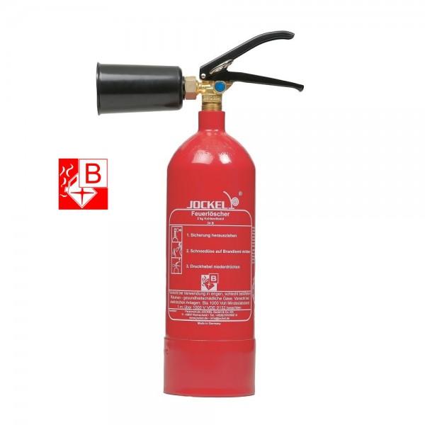 Jockel Kohlendioxid-Feuerlöscher K2J löschen rückstandsfrei